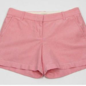 NEW J. Crew oxford pink city fit chino shorts Sz 4